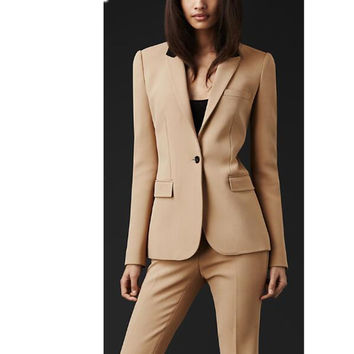 2017 Real Full Regular Pantalones Mujer New Custom Made Formal Women Suit Office Ladies Business Professional Work Wear Clothes