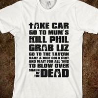 What to Do Zombie-Unisex White T-Shirt