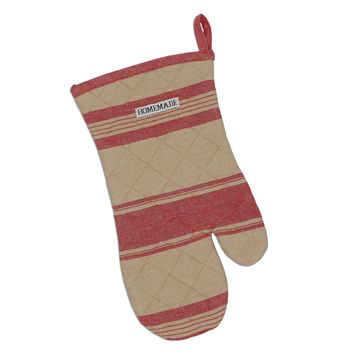 Red French Stripe Oven Mitt  2 Sets of 2