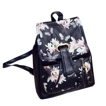 New Fashion Women Travel Backpack High Quality Leather Female Backpack Famous Brand Designer School Bags