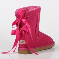 UGG 2018 autumn and winter new bow female models non-slip warm and thick snow boots