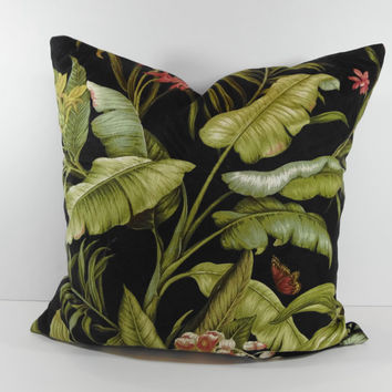 Tommy Bahama Designer Tropical Pillow Cover, Decorative Throw Pillow Cushion, 20 x 20
