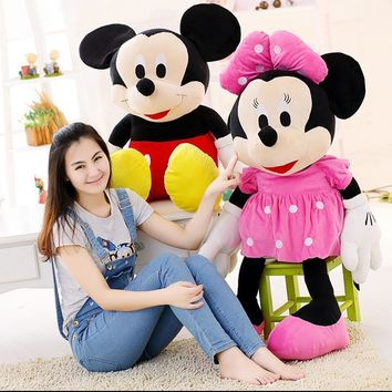 1pcs New arrival Hot sale 70cm  Mickey Mouse & Minnie Mouse Stuffed Animals Plush Toys For Children's Gift