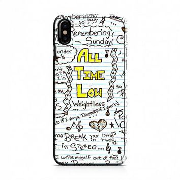 All Time Low Collage iPhone X Case