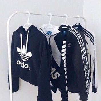 Adidas Print Women's Long Sleeve Hoodies Sweater