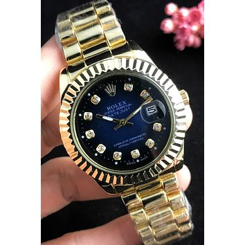Rolex 2019 new men and women models wild waterproof quartz watch #4
