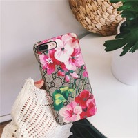 GUCCI Flower Case for iPhone 7 8 X XR XSMAX