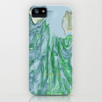 Greens and blues iPhone & iPod Case by Lucine | Society6