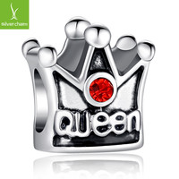 TOP Quality 925 Silver Queen Crown Charm Beads Fit Origiral Pandora Bracelet Pendants For Women DIY Jewelry ALX-SCJS ALX-SCJS