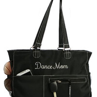 Classic Black Dance Mom Tote Bag FREE Personalization Dance Bag Tote Recital Ballet Bag Valentine Easter Birthday Gift Dance Gear Bag