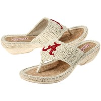 Alabama Crimson Tide Ladies Pre-Game Flip Flops