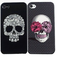 Unique Black Skull Style Hard Plastic Case for iPhone 4 4S