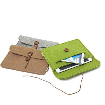 "Suoran IPad mini 3 Sleeve Kindle Paperwhite Case Kindle Fire HD 7"" Cover Bag Wool Felt Sleeve Nexus 7 case"