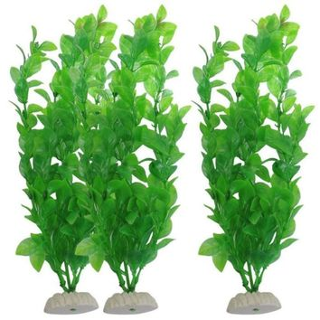 Aquarium Decoration Plants 3Piece aquarium aquarium fish tank plants decorative 10.6-inch Green fish aquarium