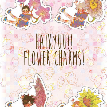 Haikyuu! Flower Charms (single)