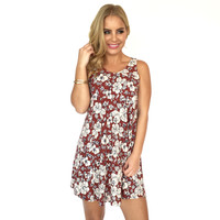 Mrs Jackson Ribbed & Floral Shift Dress
