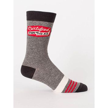 Certified Pain In The Ass Men's Socks in Athletic Gray