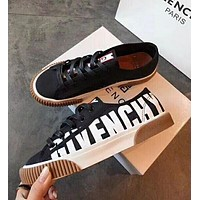 GIVENCHY Trending Women Stylish Black White Mix Match Low Top Sport Shoes Sneakers Khaki Sole I13578-1