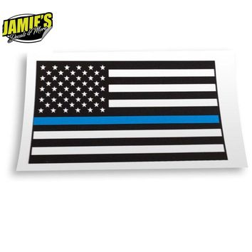 Police Support Flag - Decal - Decal - Four Sizes