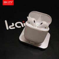 Square Desk AirPods Charging Dock Station Holder Stand For Apple AirPods Charger with Cable Case for AirPods Wireless Earphone