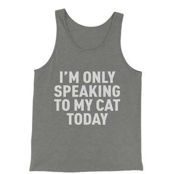 I'm Only Speaking To My Cat Today Jersey Tank Top for Men