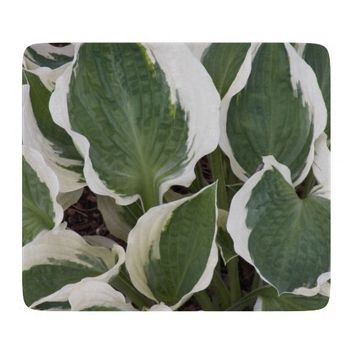 Hosta Leaves Floral Cutting Board