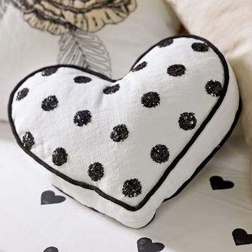 The Emily + Meritt Heart Sequin Pillow