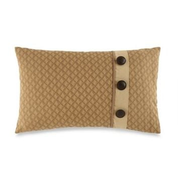 Waterford® Linens Harrison Button Oblong Throw Pillow