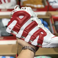 Nike Air More Uptempo white/red  Basketball shoe Size 36-45
