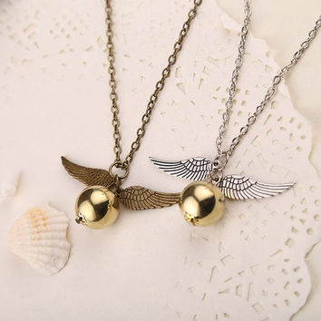 Harry Potter's Golden Snitch Necklace