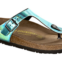 Gizeh Mirror Green Birko-Flor Sandals | Birkenstock USA Official Site