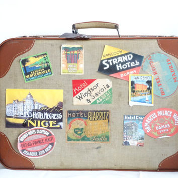 Vintage Suitcase With Very Cool Stickers