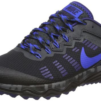 Nike Men's Dual Fusion Trail 2 Running Shoe Black/Hyper Cobalt/Anthracite 12 D(M) US '