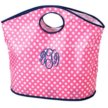 Monogram personalized tote bag shopping tote by AfterNineDesigns