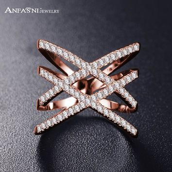 Women Cross , Hears Design Fashion Rings With Zircon
