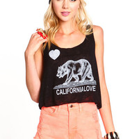 CALIFORNIA KNIT CROPPED TEE