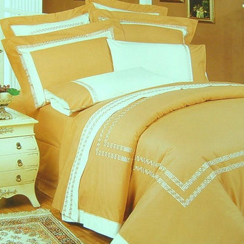 11pc  Lexington Gold Embroidered Comforter Set Size: Queen Sheet Set Color: Ivory
