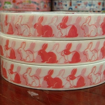 Deco tape stickers - Pink bunny DT481