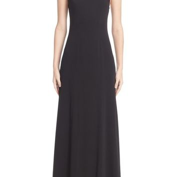 Carolina Herrera Beaded Cross Back A-Line Gown | Nordstrom