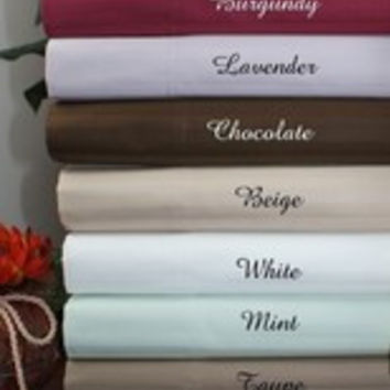 "21"" Deep Pocket- 5 SIZES-1200TC Striped Egyptian Cotton Bed Sheet Sets Color: Sage Size: Cal King"