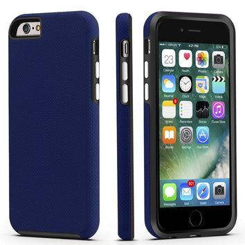 iPhone 6 / 6s Case, CellEver Dual Guard Protective Shock-Absorbing Scratch-Resistant Rugged Drop Protection Cover for Apple iPhone 6 / 6S (Navy Blue)