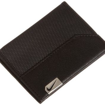 Nike Men's Credit Card Wallet with Money Clip, Black, One Size