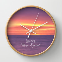 Whispers of your heart Wall Clock by Alice Gosling