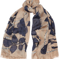 Alexander McQueen - Nest of Roses printed modal and silk-blend scarf