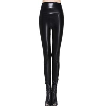 women leggings faux leather high quality slim leggings plus size High elasticity sexy