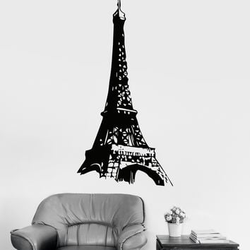 Vinyl Wall Decal Eiffel Tower Paris French Europe Girl Room Stickers Unique Gift (ig3299)