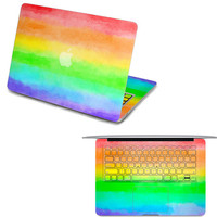 rainbow macbook pro front decal macbook keyboard cover macbook decals laptop top decal macboo air stickers macbook pro skin
