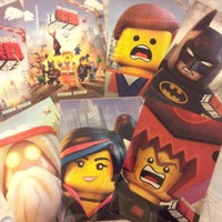 2014 The Lego Movie Promo 7 Folder Set 2 Poster + 5 Character Ver. Will Ferrell