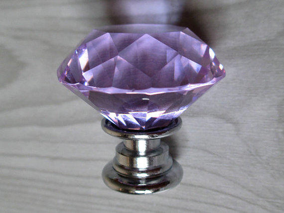 kitchen cabinets with crystal knobs lavender glass knobs dresser knobs from lynnsgraceland 21404