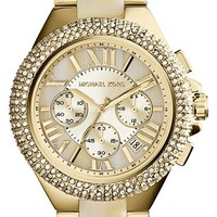 Michael Kors 'Camille' Crystal Bezel Chronograph Bracelet Watch, 43mm